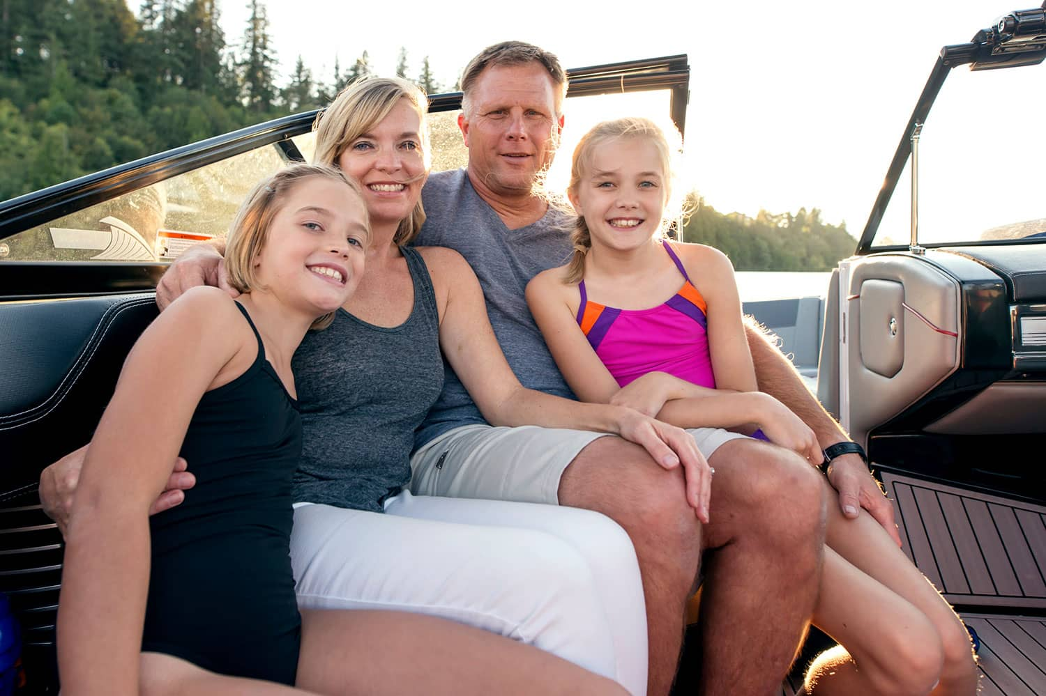 Family of 4 on Boat