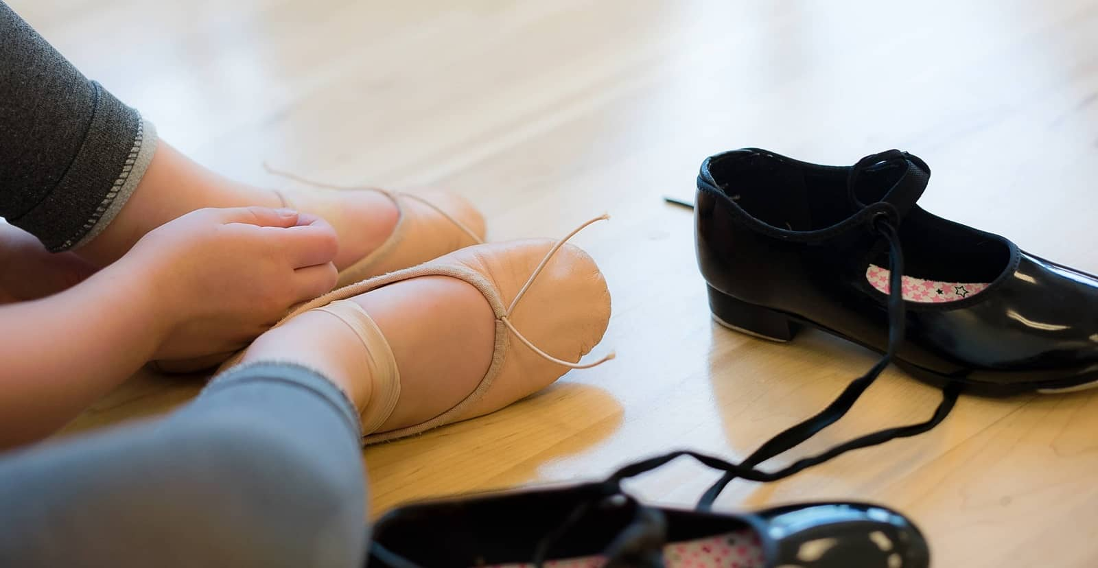 Tap shoes to ballet shoes