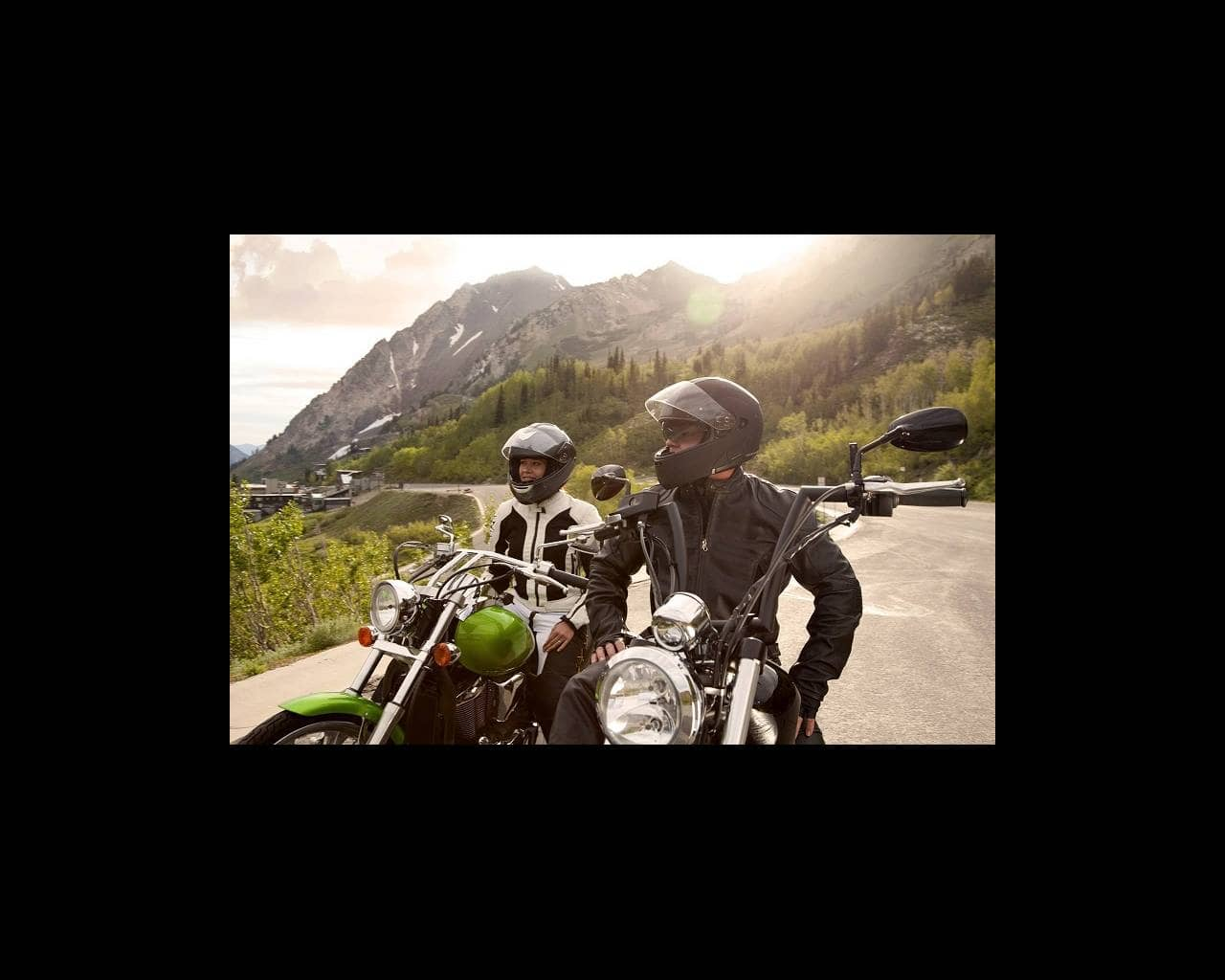 Motorcycle riders in the mountains