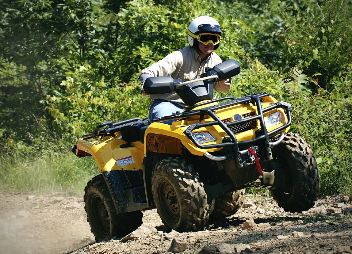 ATV on trail