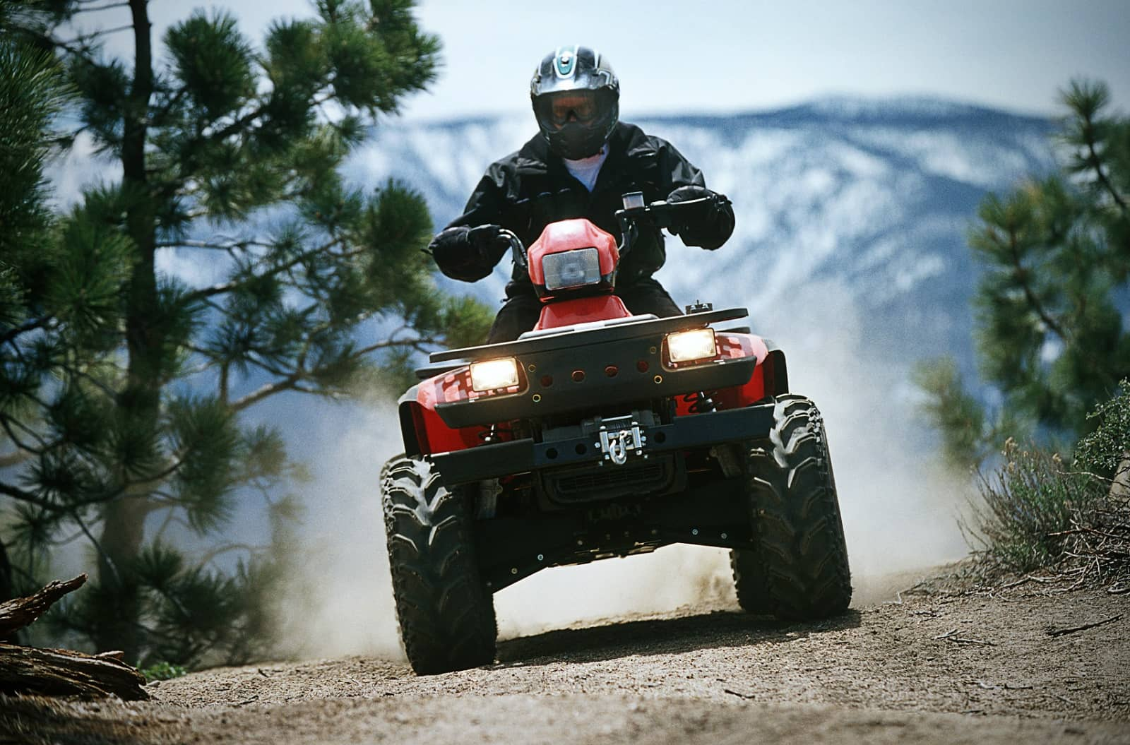 ATV on trail mountains