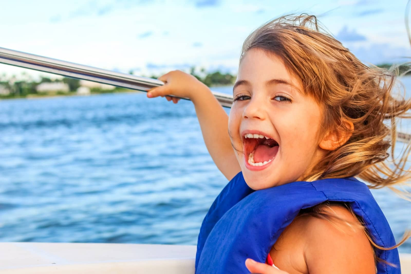 Young Girl on Yacht