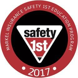 Markel's 2017 Safety 1st decal