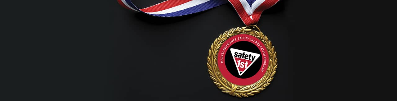 Markel Safety 1st hall of fame medal