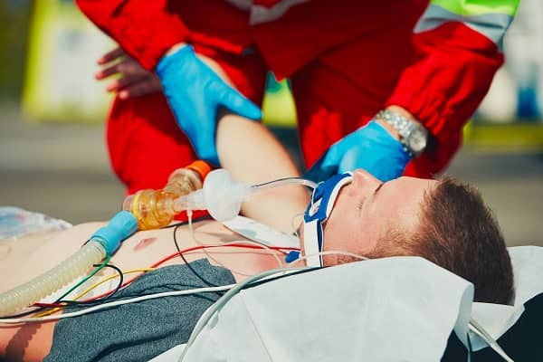 Intubated male patient